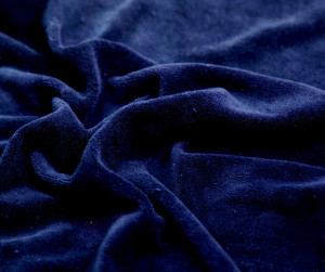 80% Cotton : 20% Polyester Velour (both Fibers Dyed)